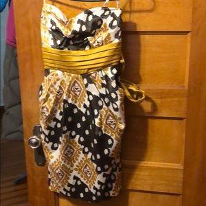 Strapless small women's dress.